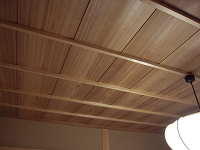 無垢板を使った竿縁天井.JPG